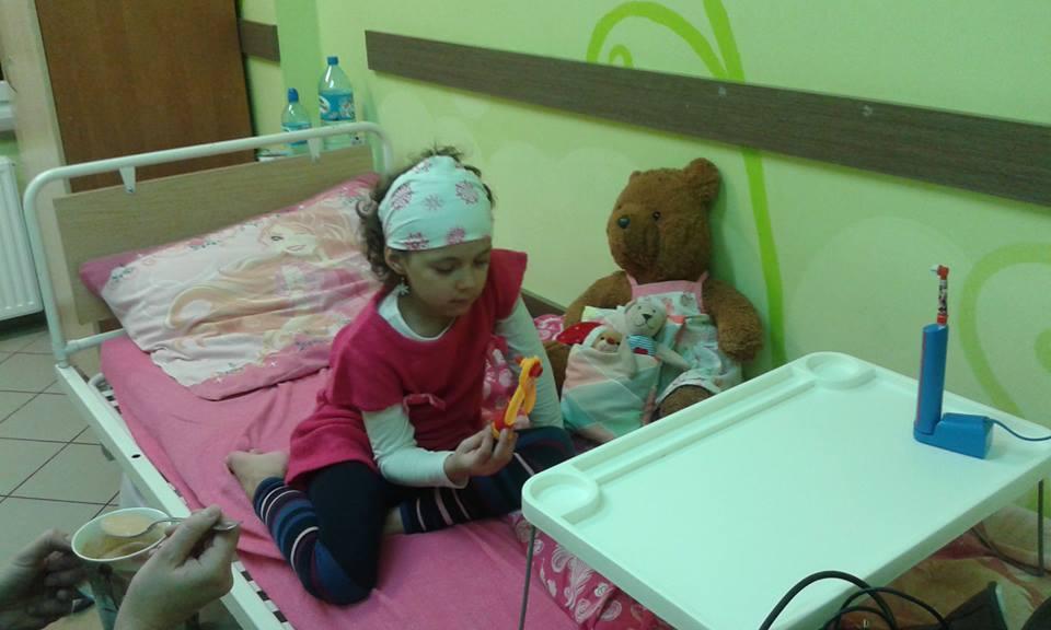 Klaudusia na szpitalnym łóżku